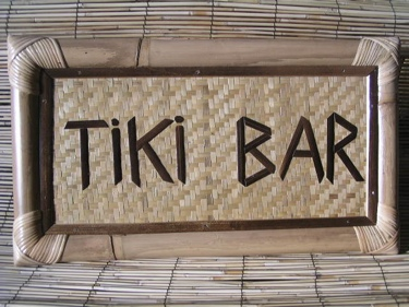 Bamboo Tiki Sign Tiki Bar Tiki Bar Decor