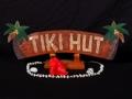 Welcome Sign Tiki Hut W Palm Trees Tiki Bar Decor