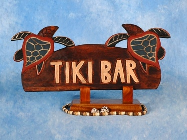 Tiki Bar Sign W Turtles Tiki Bar Decor