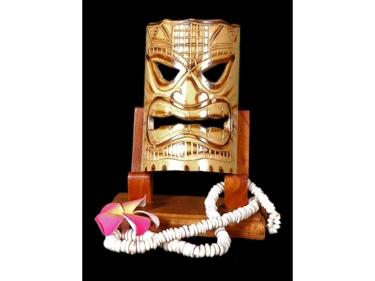 Bamboo Tiki Mask 7 Big Kahuna Tiki Mask