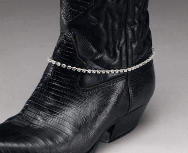 Austrian Crystal Boot Bracelet Single row
