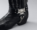 Leather Boot Straps with American Cowboy Eagle