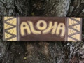 Tribal Aloha Sign 24 Antique Finish Yellow