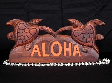 Welcome Sign Aloha W Turtle Tiki Bar Decor