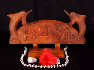 Welcome Sign Aloha W Dolphin Tropical Home Decor