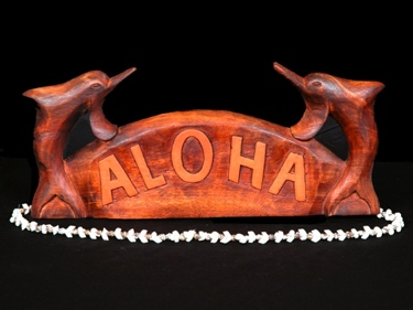Welcome Sign Aloha W Dolphin Tropical Home Decor