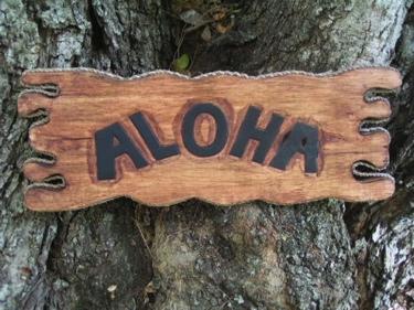 Aloha Sign Drift Wood 20 Island Home Decor