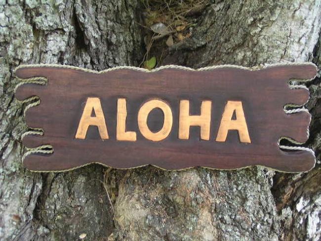 Aloha Sign Drift Wood 20 Tiki Bar Decor, Tiki Bar Decor ...