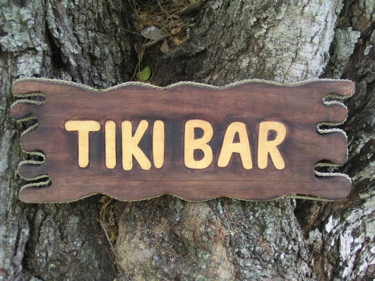Tiki Bar Sign Drift Wood 20 Island Home Decor