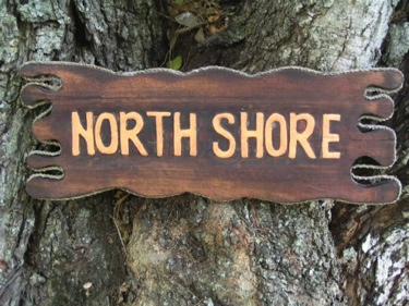 North Shore Sign Drift Wood 20 Tiki Bar Decor