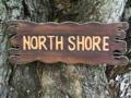 North Shore Sign Drift Wood 20 Tiki Bar Decor