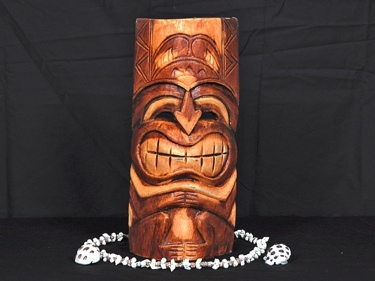 Carved Tiki Mask 12 Strength Tiki Mask