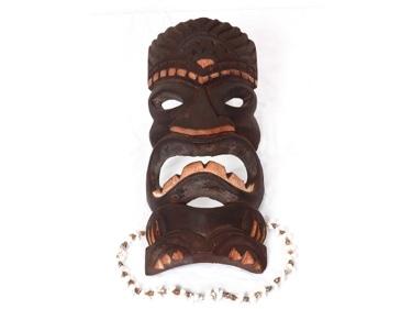 Carved Tiki Mask 12 Lucky Tiki Mask