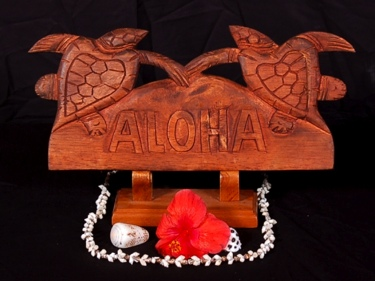 Welcome Sign Aloha W Turtle Tiki Bar Decor