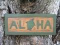 Aloha Turtle Tiki Sign 16 Carved Painted Home Decor