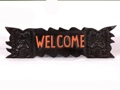 Welcome Sign Carved Tikis 24 Island Home Decor
