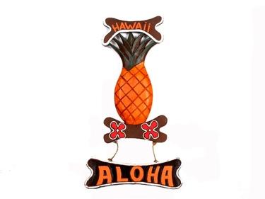 Pineapple Welcome Sign Hawaii Aloha 24 Wall Hanging