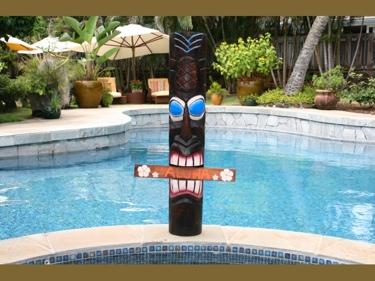 Welcome Aloha Tiki Totem 39 Hand Painted Surf Decor