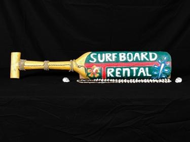 Surfboard Rental Hanging Paddle 32 Surf Decor