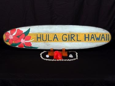 Hula Girl Hawaii Surf Sign 39 Beach Decor