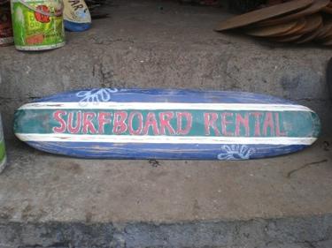 Surfboard Rental Surf Sign 39 Blue Bed Header