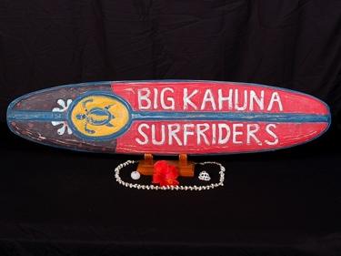 Big Kahuna Surfriders Surf Sign 39 Beach Decor