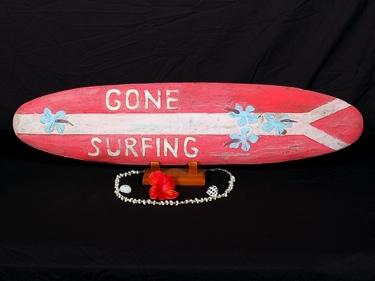 Gone Surfing Surf Sign 39 Beach Surf Decor