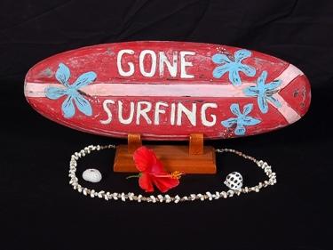 Surf Decor -Gone Surfing Surf Sign 20 Beach Decor