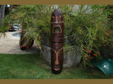 Fijian Tiki Mask 40 Health Strength Polynesian Art