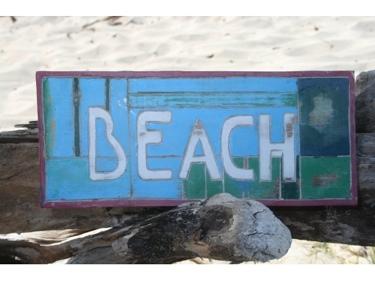 Beach Weathered Nautical Sign 14 Beach Cottage Decor