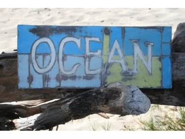 Ocean Weathered Nautical Sign 14 Beach Cottage Decor