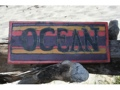 Ocean Weathered Surfcity Sign 14 Beach Cottage Decor