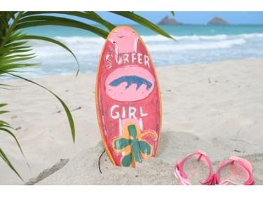 Surfer Girl Surf Sign W Fin 14 Surfing Decor