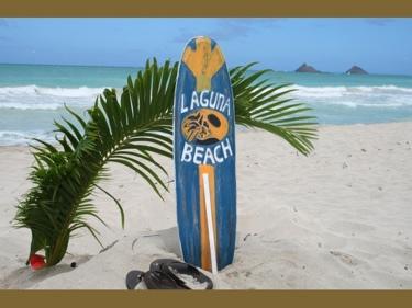 Laguna Beach Surf Sign W Fin 40 Surfing Decor