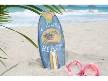 Laguna Beach Surf Sign W Fin 14 Surfing Decor