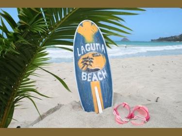Laguna Beach Surf Sign W Fin 20 Surfing Decor