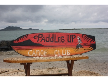 Paddles Up Canoe Club Surf Sign 40 Outrigger Signs