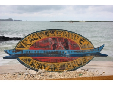 Racing Canoe Kayak Club Weathered Sign 20