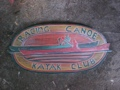 Hawaiian Racing Canoe Kayak Club Weathered Sign 30