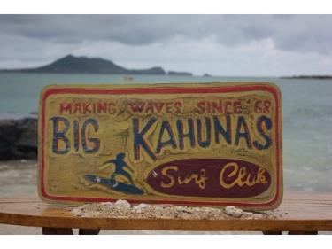 Big Kahunas Surf Club Surfing Wood Sign 24