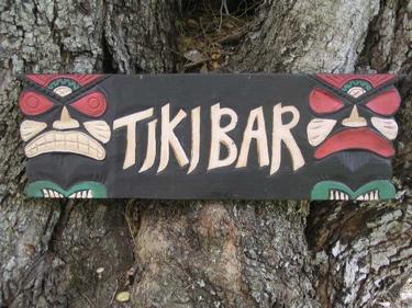 Tiki Bar Tiki Sign 24 Hand Carved Painted Hut Decor