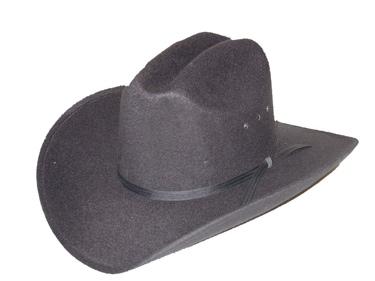 Black Faux Felt Cowboy Hat