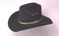 Black Faux Felt Cowboy Hat