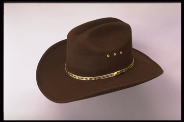Brown Faux Felt Cowboy Hat