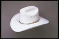 White Faux Felt Cowboy Hat *elastic