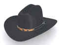 Black Faux Felt Cowboy Hat Conchos *Sized