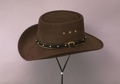 Brown Faux Felt Gambler Hat Sized