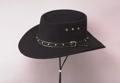 Black Faux Felt Gambler Hat *Elastic