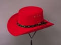 Red Faux Felt Gambler Hat *elastic