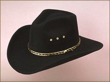 Black Pinch Front Faux Felt Hat Sizes